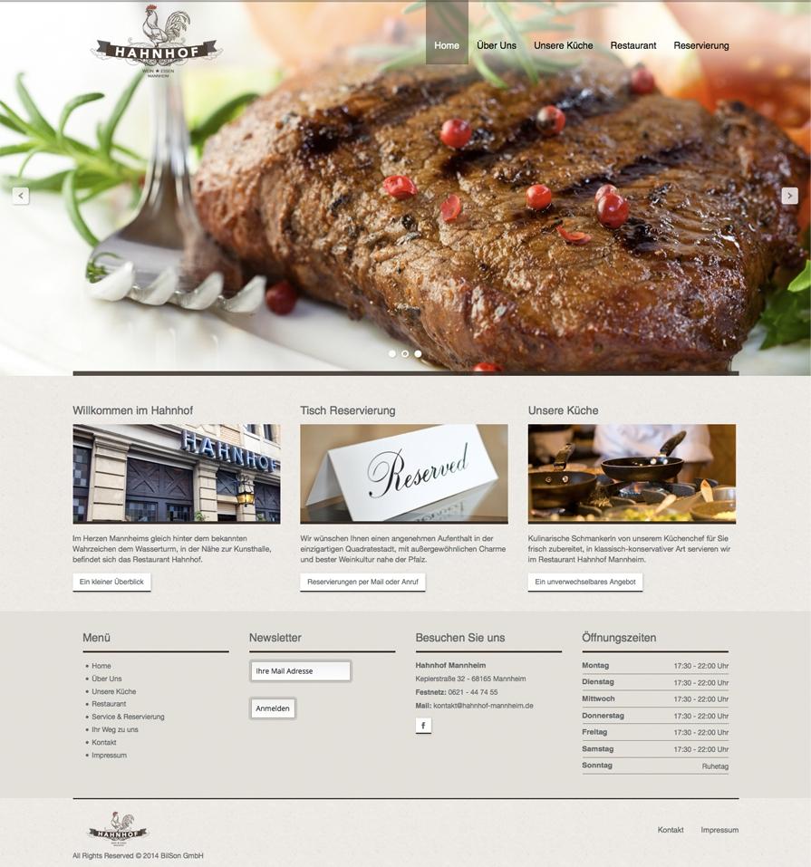 Hahnhof Website Relaunch