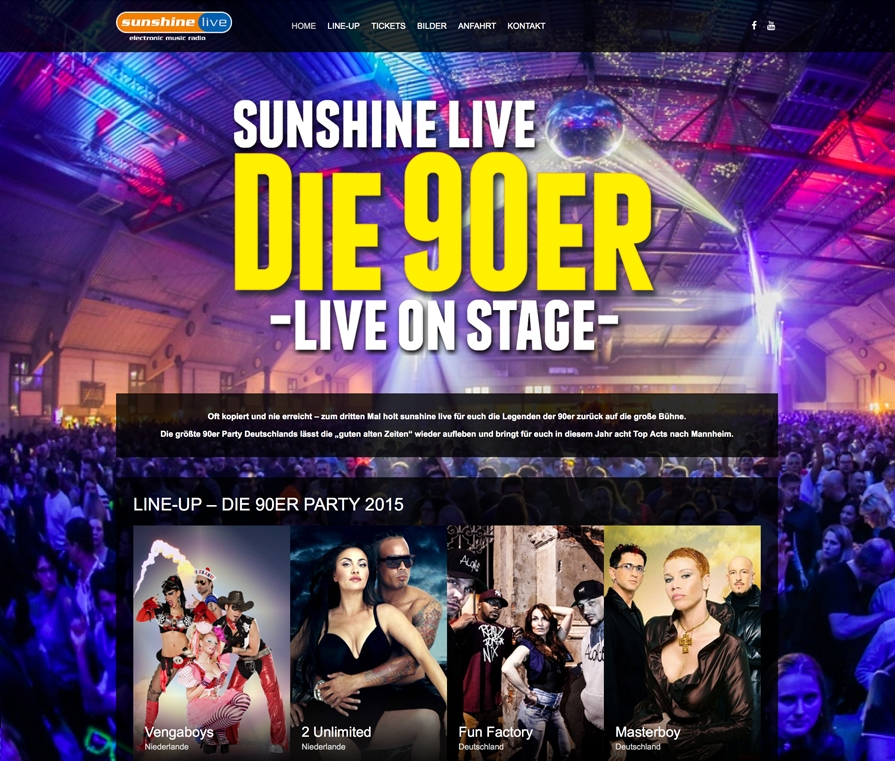 sunshine live die 90er live on stage